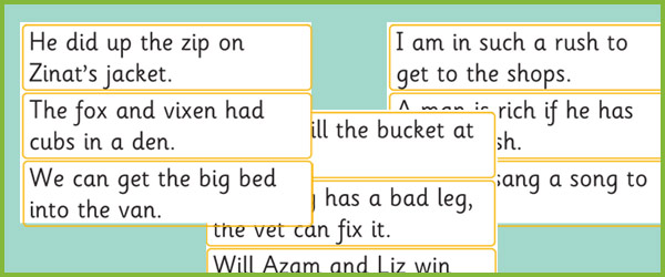 Phase 3 Sentence Cards Free Early Years Amp Primary