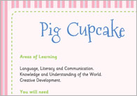 Three Little Pigs cupcakes
