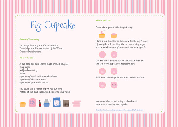 Pig Cupcakes u2013 Three Little Pigs Activity : Free Early ...