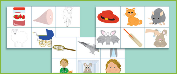 Phase 1 Rhyming Picture Cards Free Early Years