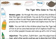 The tiger who came to tea activity ideas