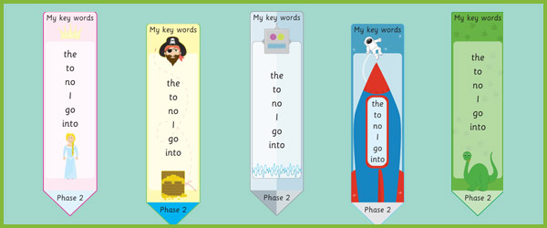 Phase 2: Tricky Words Bookmark
