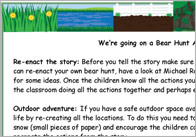 Bear Hunt activity ideas