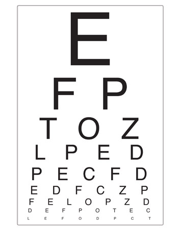 This is a photo of Massif Free Printable Kindergarten Eye Chart
