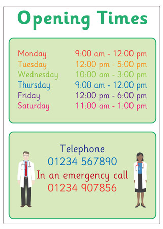 Opening Times Role-Play Poster