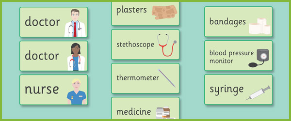 Doctor S Surgery Word Cards Free Early Years Amp Primary Teaching Resources Eyfs Amp Ks1
