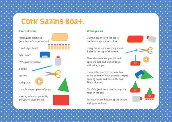 Cork Sailing Boat Activity
