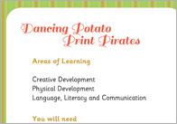 Dancing Potato Print Pirate