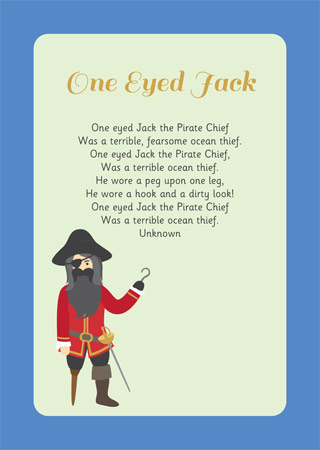 one eyed jack illustrated poem free early years