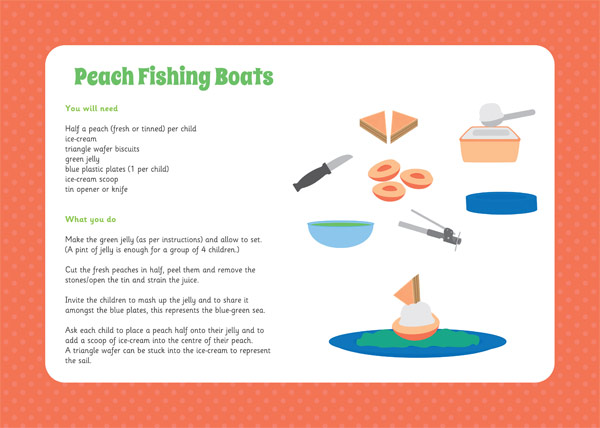 Peach Fishing Boats – Cooking Activity