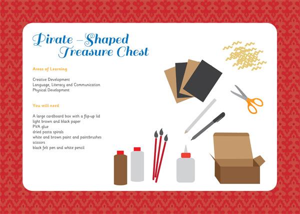 Pirate Treasure Chest Activity