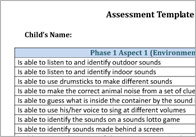 Letters and Sounds Assessment Template