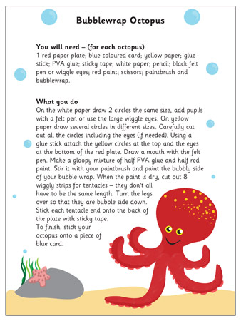 Bubblewrap Octopus   EYFS Craft
