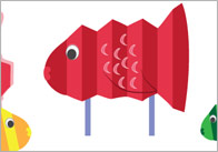 Concertina Fish Puppet