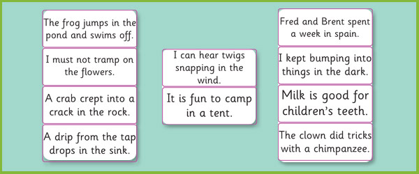 Phase 4: Sentence Cards