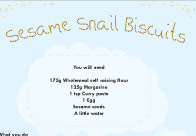 Sesame snail biscuits recipe