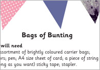 Bags of Bunting Activity