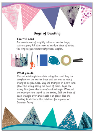 Bags of Bunting Craft Activity