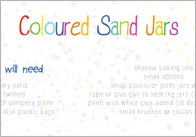 Coloured Sand Jars Craft Activity