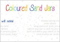 Coloured Sand Jars Craft Activity