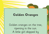 Gold Oranges summer poem