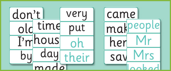 Phase 5 Decodable and Tricky Word Cards