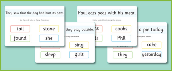 phase 5 sentence substitution mats