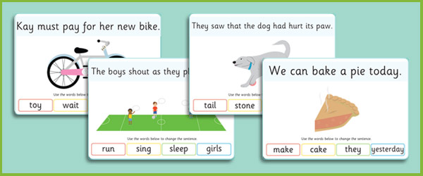 Phase 5 Sentence Substitution Visual Aids