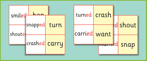 Phase 6 'ed' Suffix Loop Cards