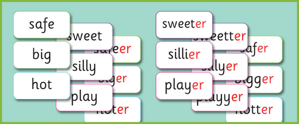 Phase 6 'er' Suffix Matching Cards