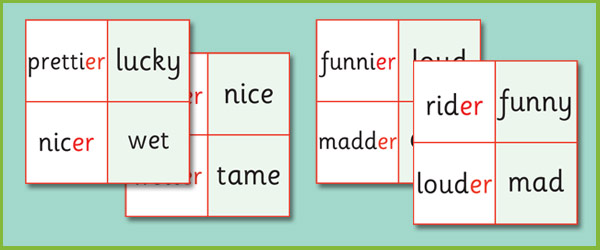 Phase 6 'er' Suffix Loop Cards | Free Early Years & Primary ...