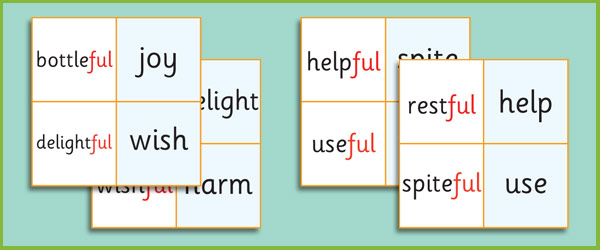 Phase 6 'ful' Suffix Loop Cards