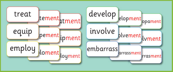 Phase 6 Ment Suffix Matching Cards Free Early Years