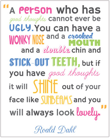 Roald Dahl inspirational quote | Free Early Years & Primary ...