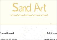Sand Art Craft Activity