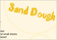 Sand Dough Crafts Activity