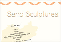 Sand Sculptures Craft Activity