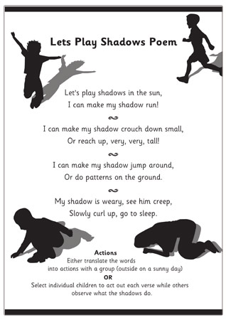 Let S Play Shadows Poem Free Early Years Amp Primary