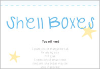 Shell boxes craft activity