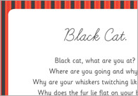 Black cat poem