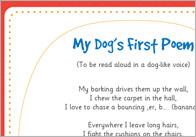 My dog's first poem