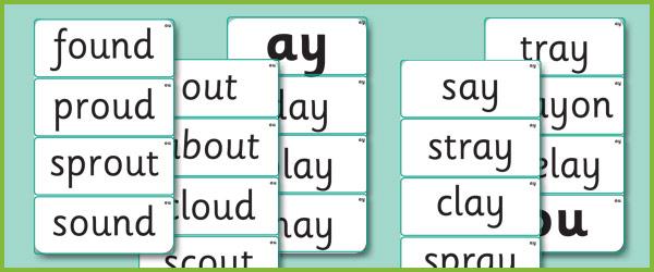 Phase 5 Grapheme Word Cards