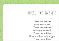 These two rabbits rhyme