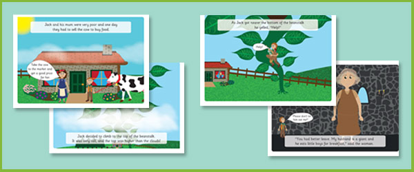 Jack And The Beanstalk Illustrated Story