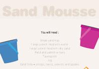 Sand Mousse Sensory Play Activity