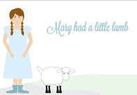 Mary had a Little Lamb Nursery Rhyme