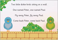 fly away peter nursery rhyme