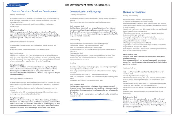 Development Matters Statements