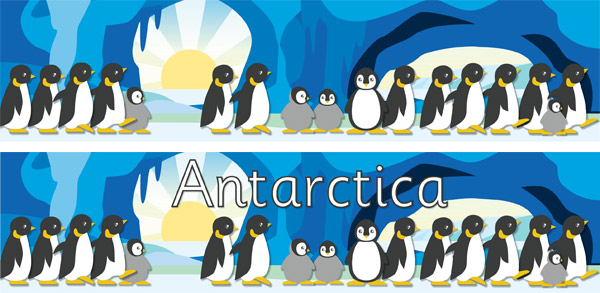 Antarctica Small World Play Display Poster Free Early