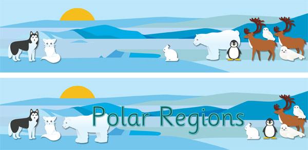 Polar Regions Display Posters